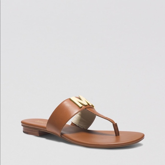 88cb436af8ad Michael Michael Kors Hayley Leather Thong Sandals.  M 5b43d6f83c984490af80e1cf